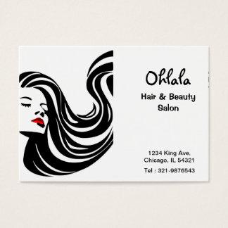 Cartão da nomeação do salão de beleza do cabelo