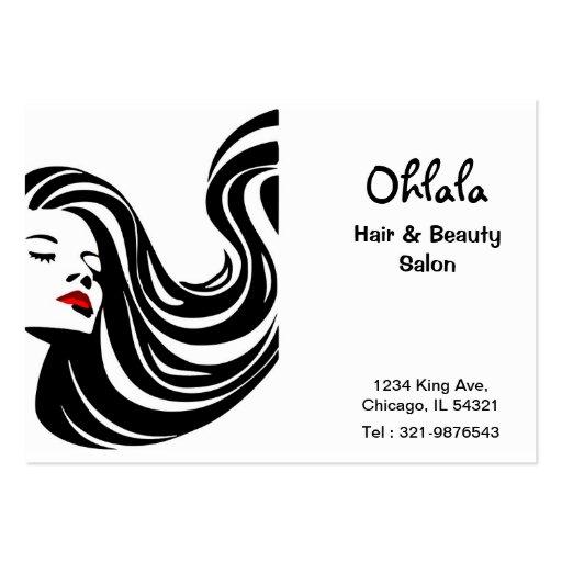 Cartão da nomeação do salão de beleza do cabelo cartões de visitas