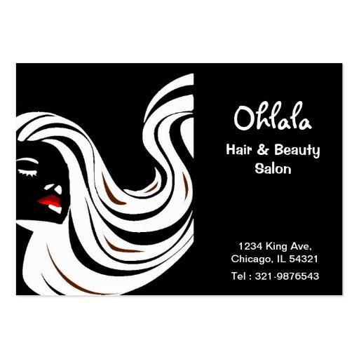 Cartão da nomeação do salão de beleza do cabelo modelos cartao de visita