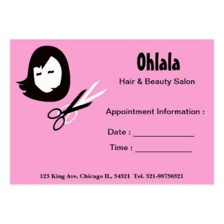 Cartão da nomeação do salão de beleza do cabelo cartões de visita