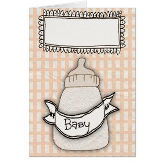 Cartão da notícia do bebê