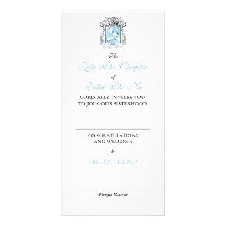 Cartão da oferta do capítulo cartao com foto