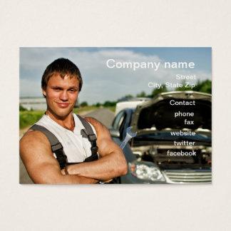 Cartão da oficina de reparações do automóvel