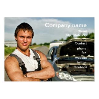 Cartão da oficina de reparações do automóvel cartoes de visita