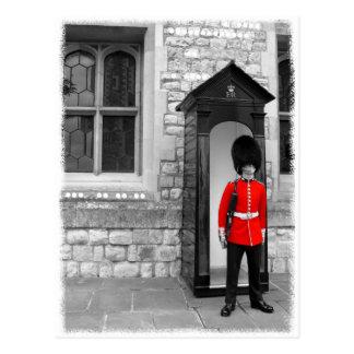 Cartão da parada do soldado de Londres