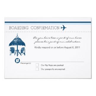 Cartão da passagem de embarque RSVP Convite 8.89 X 12.7cm