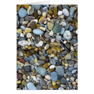 cartão da praia da natureza do seixo
