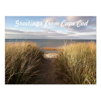 Cartão da praia de Cape Cod