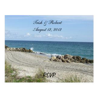 Cartão da praia RSVP de Florida Cartão Postal