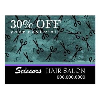 Cartão da propaganda de negócio do cabeleireiro cartão postal