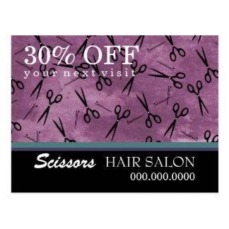 Cartão da propaganda de negócio do cabeleireiro cartao postal