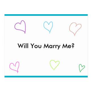 Cartão da proposta de casamento cartão postal