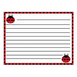 Cartão da receita do joaninha cartão postal