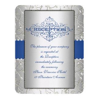 Cartão da recepção de casamento do redemoinho do