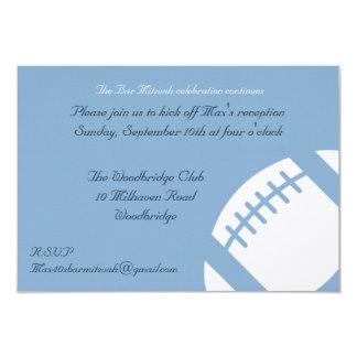 Cartão da recepção de Mitzvah do bar - futebol