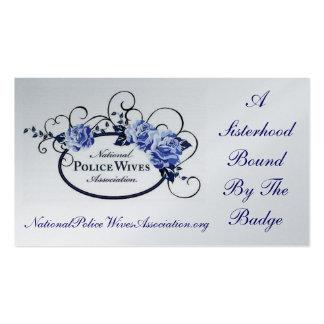 Cartão da referência da associação das esposas da cartão de visita