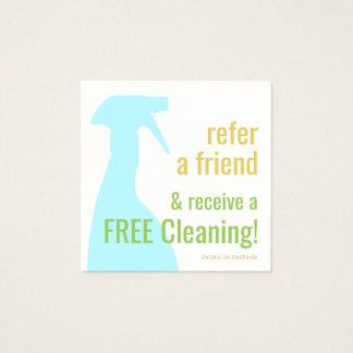 Cartão da referência do cliente da limpeza da casa