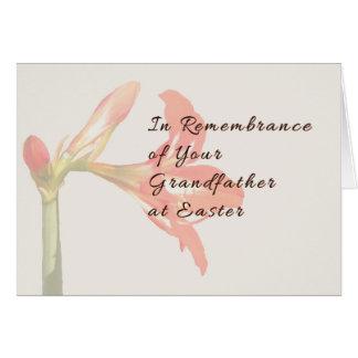 Cartão da relembrança da páscoa para o avô