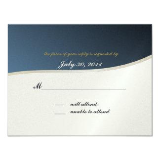 Cartão da resposta do bar Mitzvah/da música Convite 10.79 X 13.97cm