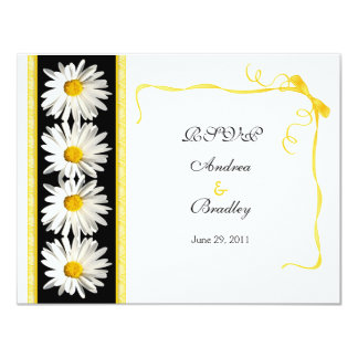Cartão da resposta do casamento da margarida de convites