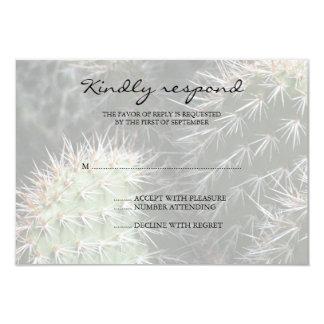 Cartão da resposta do casamento do cacto convite 8.89 x 12.7cm