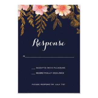 Cartão da resposta do convite do casamento do
