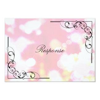 Cartão da resposta RSVP do casamento - redemoinho Convite Personalizados