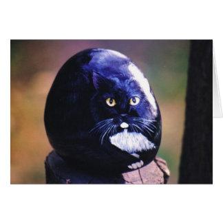"""Cartão da rocha do gato de """"Sasha"""""""