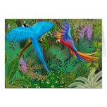 Cartão da selva do Macaw