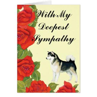 Cartão da simpatia do Malamute do Alasca