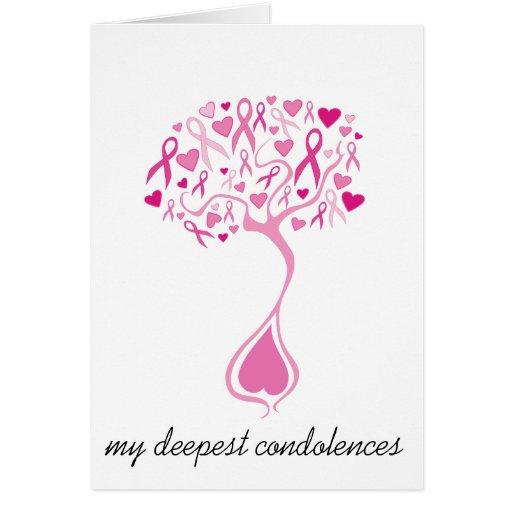 Cartão da simpatia/falecimento para o cancro da ma