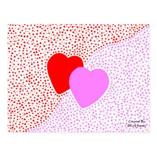 Cartão da surpresa do coração cartão postal