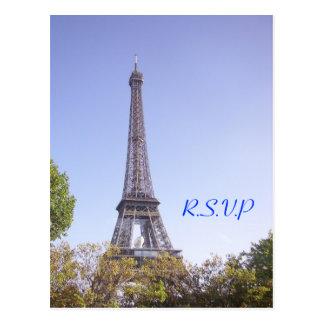 Cartão da torre Eiffel de Paris Cartão Postal
