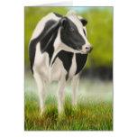Cartão da vaca de Holstein