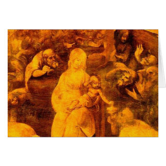 Cartão Da Vinci - adoração dos Magi