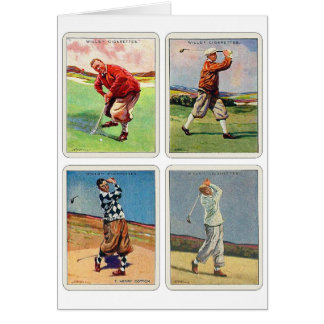 Cartão Da vontade Golfing do cigarro do vintage 20s os