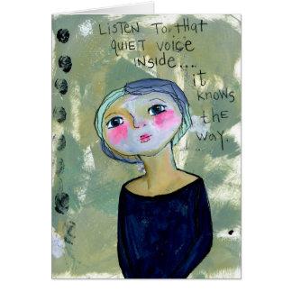 Cartão da voz quieta