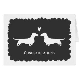 Cartão Dachshunds que Wedding parabéns