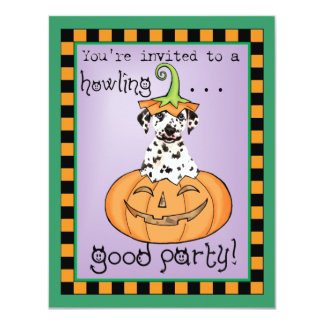Cartão Dalmatian do Dia das Bruxas