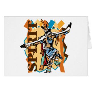 Cartão Dança do espírito do nativo americano