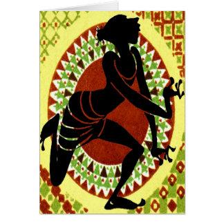 Cartão Dançarino exótico