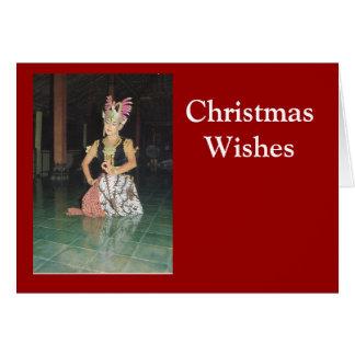 Cartão Dançarino exótico de Golek do indonésio