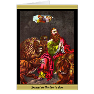 Cartão Daniel com o ` s do leão