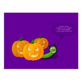 Cartão das abóboras do Dia das Bruxas Cartão Postal