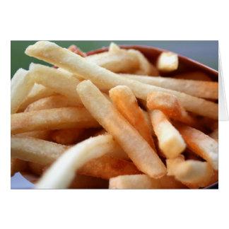 Cartão das batatas fritas
