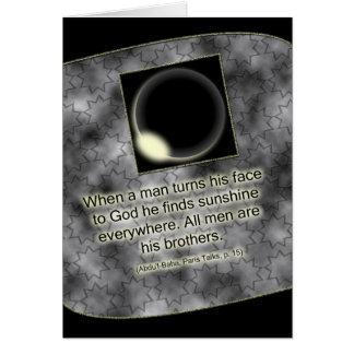 Cartão das citações de Baha'i