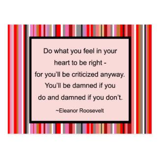 Cartão das citações de Eleanor Roosevelt Cartão Postal