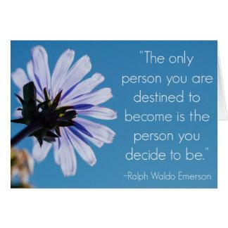 Cartão das citações de Ralph Waldo Emerson