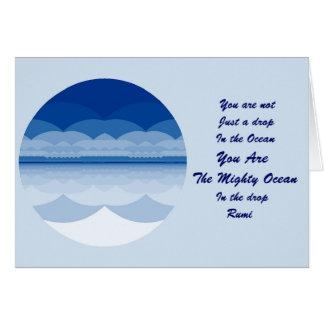 Cartão das citações de Rumi. Inspiração da mandala