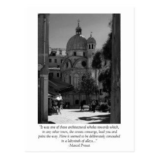 Cartão das citações de Veneza